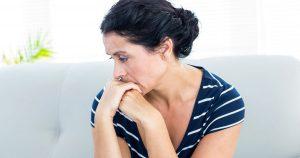 Woman looking worried